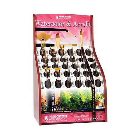 Mini Detailer Synthetic Sable Series 3050 Assortment Display
