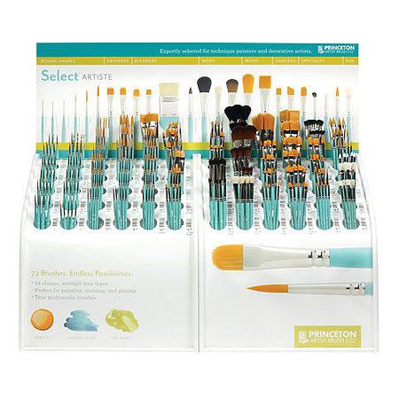 Select Series 3750 Counter Assortment Display   72-Styles/332-Brushes