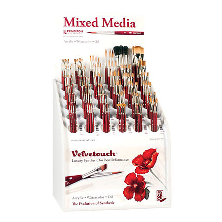 Velvetouch Mixed Media Brush Series 3950 Counter Assortment Display