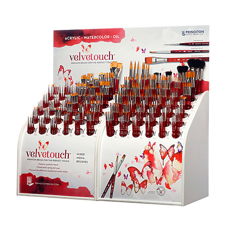 Velvetouch Mixed Media Brush Series 3950 72 Styles Counter Assortment Display