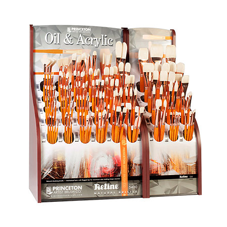 Refine Natural Bristle Oil & Acrylic Series 5400 Assortment Display
