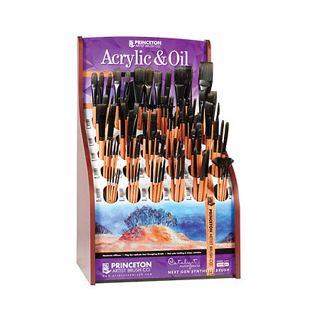 Catalyst Polytip Bristle Long Handle Brushes Assortment Display