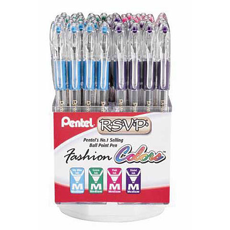 RSVP 60-Pen Fashion Colors Assortment Display