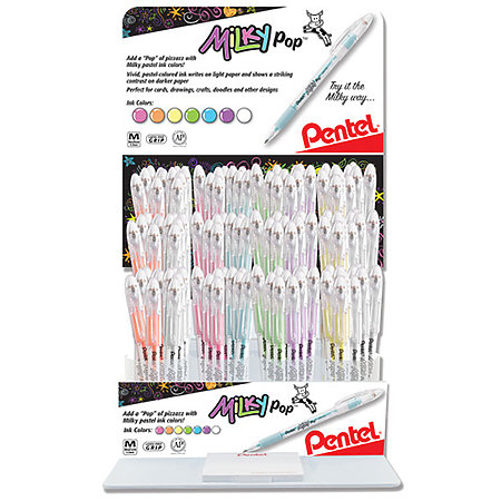 Milky Pop Pastel Gel Pen Assortment Display   84 Pens
