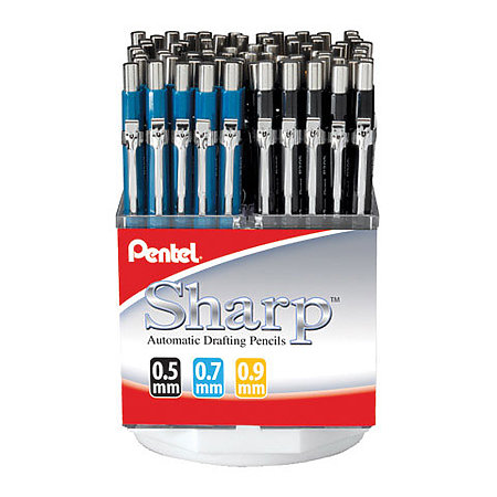 Sharp Mechanical Pencil Assortment Display   7-Dozen
