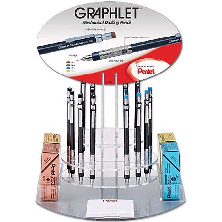 Graphlet Mechanical Drafting Pencil & Leads Assortment Display