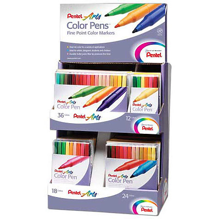 Color Pen Assortment Display - 24-Piece