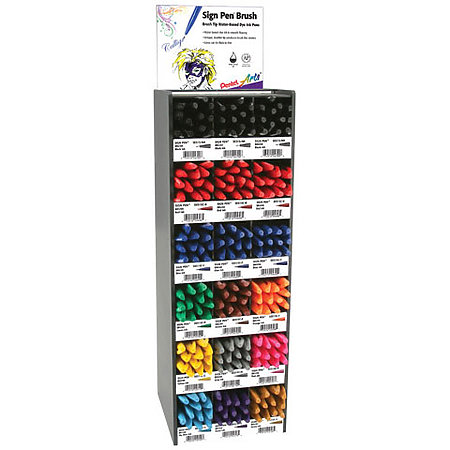 Sign Pen Brush-Tip Tower Assortment Display