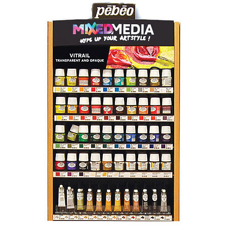 Mixed Media Vitrail Glass Painting Assortment Display