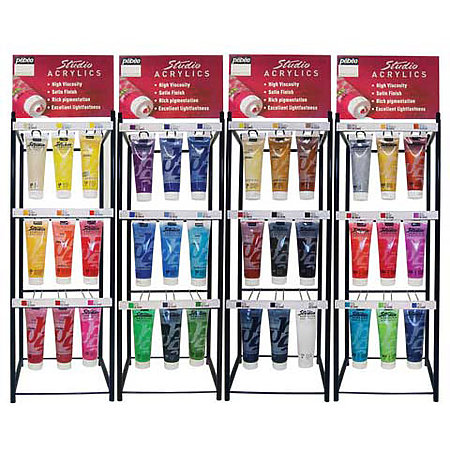 Studio Acrylics 250ml Assortment Display - Quadruple