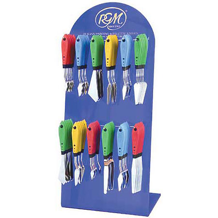 Rubber Handle Painting Knives Assortment Display