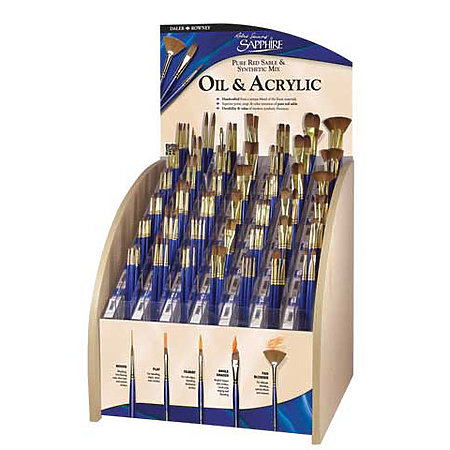 Sapphire Long Handle 154-Brush Assortment Display