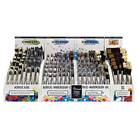 Simply Simmons Oil & Acrylic 42-Styles Long Handle Brush Assortment Display