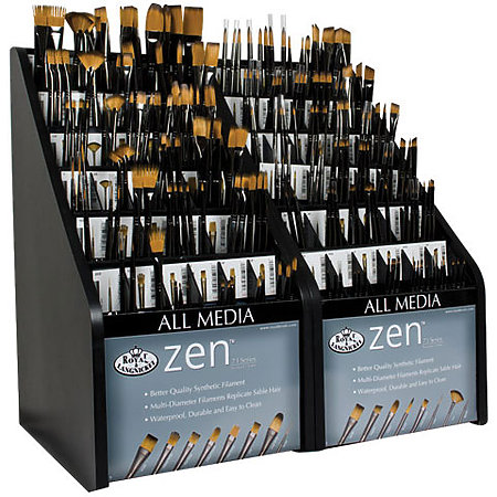 Zen Series 73 Short Handle Synthetic All-Media Brush Assortment Display