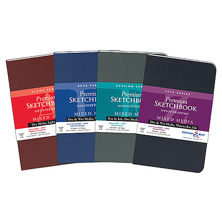 White Paper Soft-Cover Sketchbook Assortment