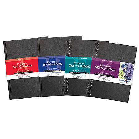 White Paper Hard-Bound & Wire-Bound Sketchbook Assortment