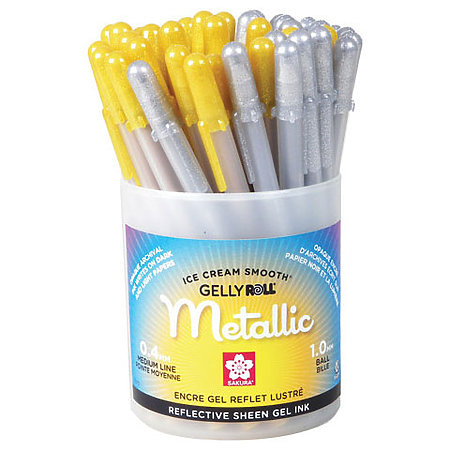 Gelly Roll Metallic Gold & Silver Cup Assortment Display