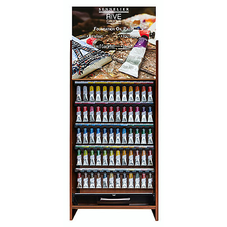 Rive Gauche Oil Paint 40ml Assortment Counter Display