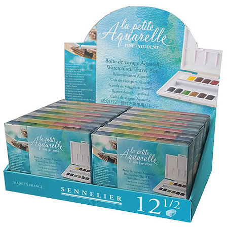 La Petite Aquarelle Artist Watercolor Half-Pan Sets Assortment Display
