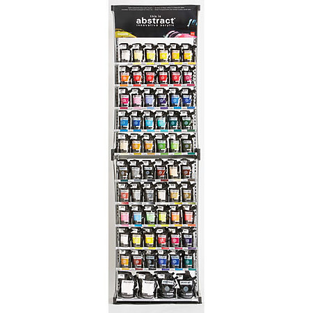 Abstract Acrylics 120ml Floor Assortment Display