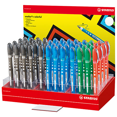 Worker Colorful .5mm 48-Pen Counter Assortment Display