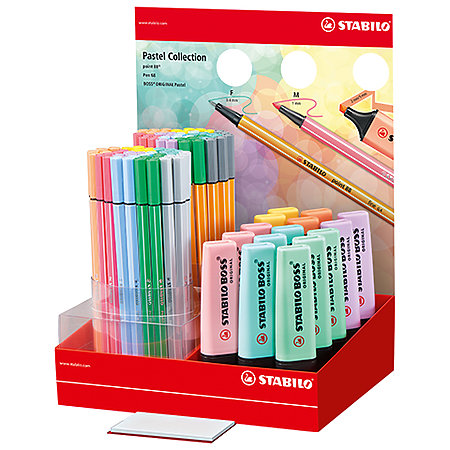 BOSS, Point 88, Pen 68 Pastel Collection Counter Assortment Display