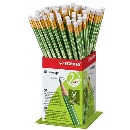 GREENgraph Graphite Pencil Counter Displays