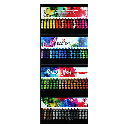 Ecoline Liquid Watercolour Brush Pen Full Assortment & Display