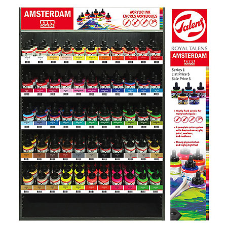 Acrylic Inks Assortment & Display
