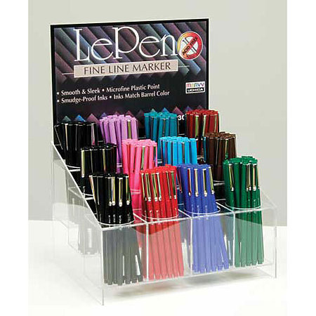 Le Pen .3mm Point 24 Dozen Assortment Display