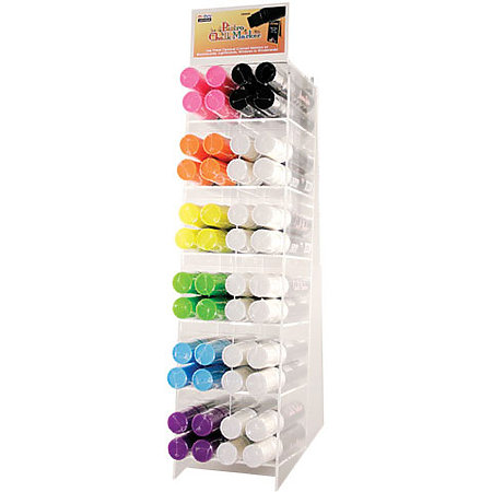 Bistro Chalk Marker 4-Dozen Jumbo Point Assortment Display