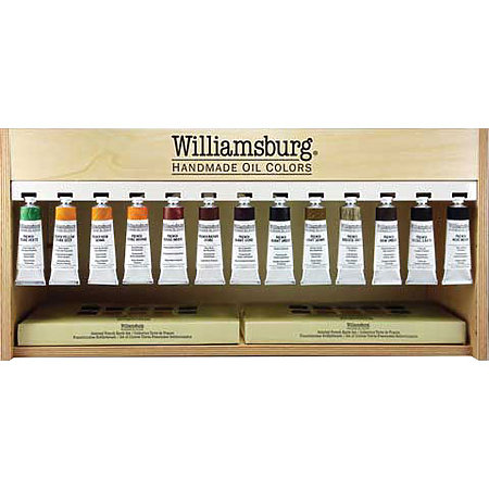 Williamsburg 37ml Handmade French Earth Oil Color Assortment Display