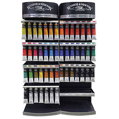 Artisan Water Mixable Oil Color 40-Color 200ml Tube Assortment & Display