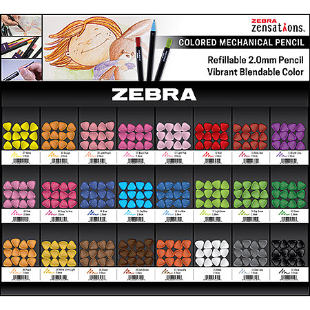 Zensations Colored Mechanical Pencils 288-Pencil Assortment Display