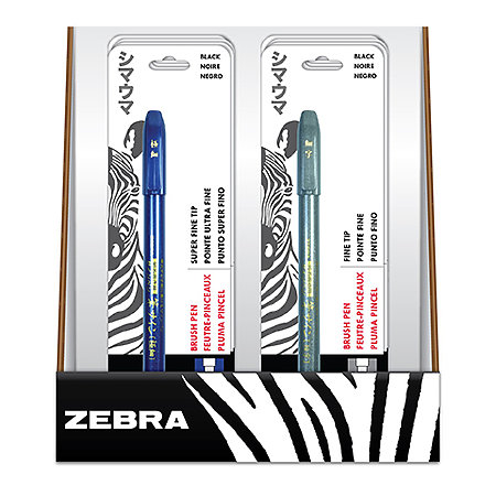 Zensations Brush Pens 12-Pen P.O.P. Assortment Display