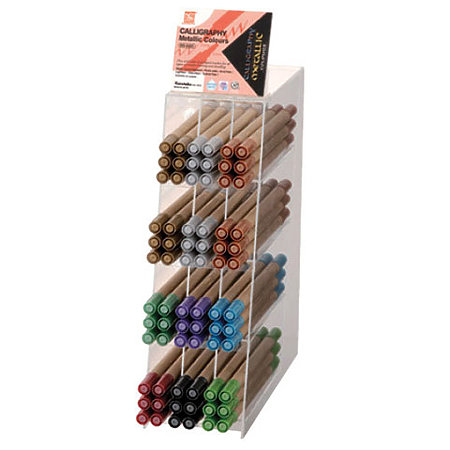 Memory System Calligraphy Metallic Marker Assortment Display
