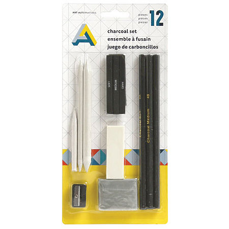 Charcoal 12-Piece Drawing Set
