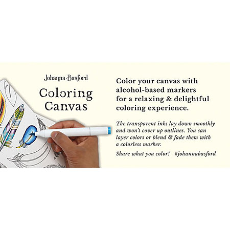 Johanna Basford Coloring Canvas Shelf Talker