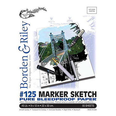 #125 Marker Sketch Pure Bleedproof Paper Pads
