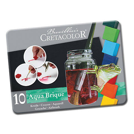Aqua Brique Watercolor Block 10-Color Tin Set