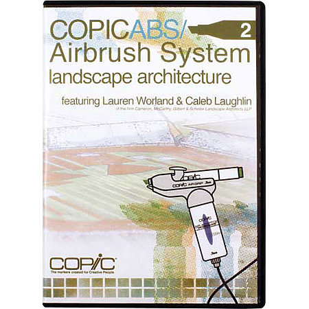 COPIC ABS 2 Airbrush System Landscape Architecture DVD