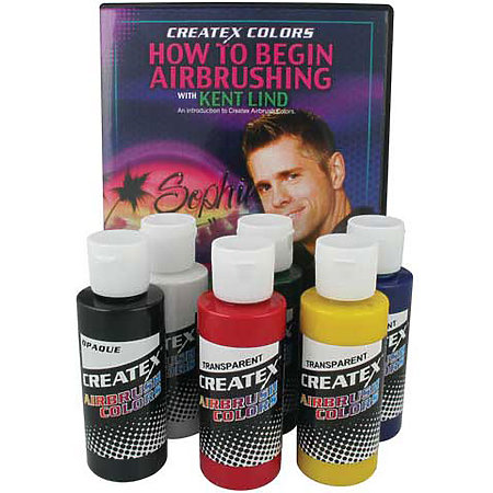 Airbrush Color Kit with DVD