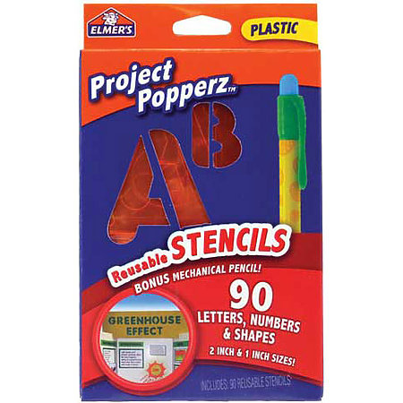 Project Popperz Reusable Plastic Stencils