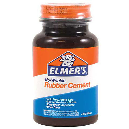 No-Wrinkle Rubber Cement
