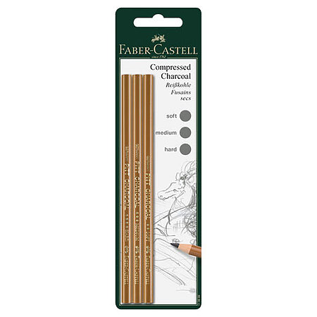 PITT Compressed Charcoal Pencil Set
