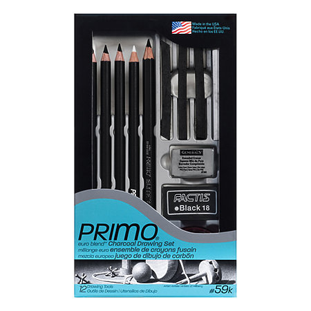 Primo Euro Blend Charcoal Drawing Set   New Packaging