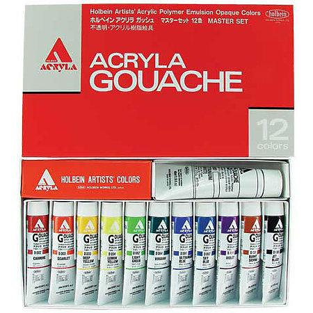 Acryla Gouache 12-Color Master Set