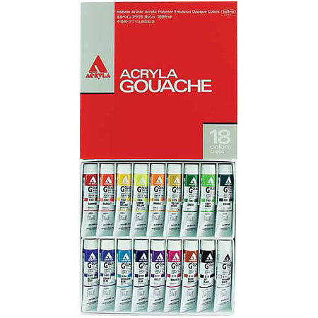 Acryla Gouache 18-Color 20ml Set
