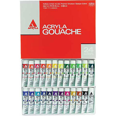 Acryla Gouache 24-Color 20ml Set