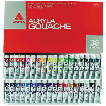 Acryla Gouache 36-Color 20ml Set